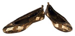 Cole Haan Leather bronze and cream Flats