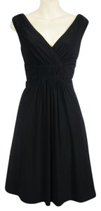 White House | Black Market Ruching Shirred Stretch Stretchy A-line Lbd Little Dress