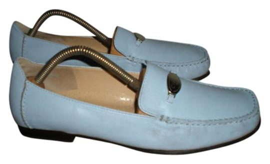 Circa Joan & David Loafers Loafers Loafers Loafers Size 8 Baby Blue Leather Flats