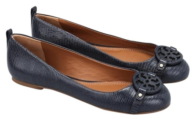 Item - Navy Mini Miller Flats Size US 8 Wide (C, D)