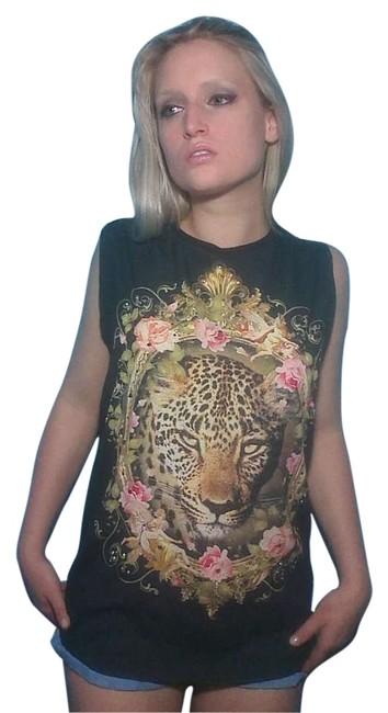 Forever 21 Likenew Fierce Top black with tiger