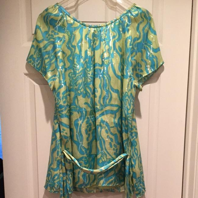 Lilly Pulitzer Top Blue, Green
