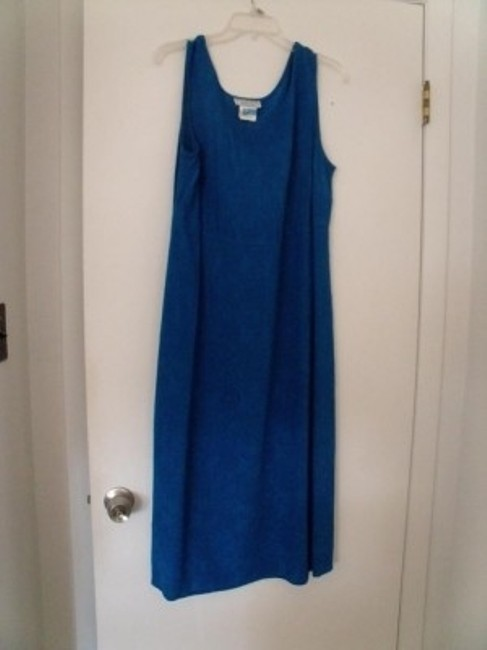 Turquoise Blue Maxi Dress by Karin Stevens