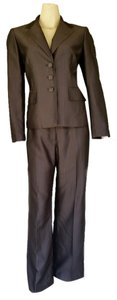 Kasper KASPER Brown Man Tailored Pantsuit Pants Suit 8P Petite 8 Stripes
