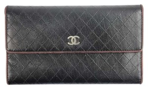 Chanel [ENTERPRISE] Quilted Stitch Wallet Classic Flap CCWLM20