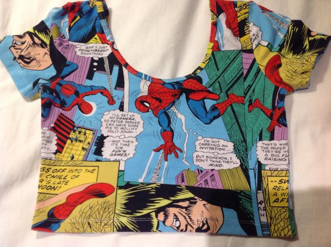 Marvel Comics Top Nice Spider Man blouse from Marvel Comics,. Collectable.