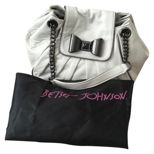 Betsey Johnson Satchel in White