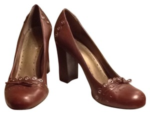 BCBGMAXAZRIA BRAZILIAN LEATHER BROWN/COGNAC Pumps