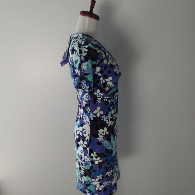 Peter Pilotto for Target short dress Blue Floral Cotton Stretch on Tradesy