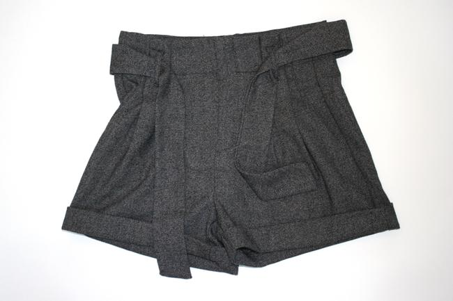 Urban Outfitters High Waisted Soft Belted Shorts grey