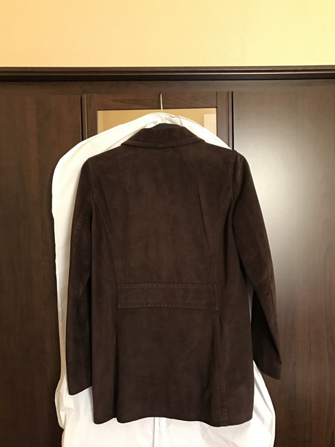 Coach Suede Leather Brown Leather Jacket