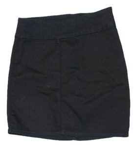 7 For All Mankind Minimalist Soft Stretchy Mini Skirt black/dark blue