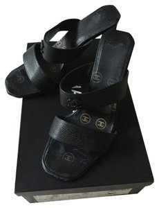 Chanel Cc Chic Mules Chic Heels Matches Everything Black Sandals