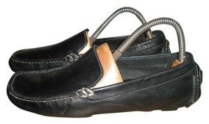 Cole Haan Black Leather Driving Loafers Flats