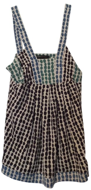 Item - Off-white Blue Very Dark Brown Green Jersey XS Mixed Fabric Halter Top Size 00 (XXS)