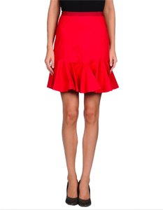 Carven Red Skirt