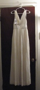J.Crew Ivory Silk Chiffon Sophia Gown Casual Wedding Dress Size 8 (M)