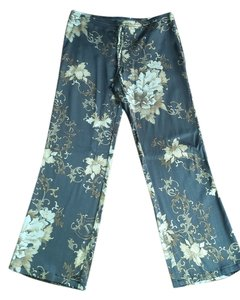 Dismero Italian Designer Relaxed Pants Brown & Gold
