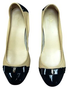 1c94ad9f03c Cole Haan Gold Studded Comfortable Women s Patent Leather Nude   Black Flats