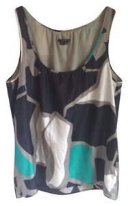 Theory Sleeveless Summer Top Black, Green, Cream