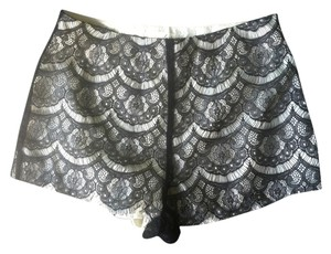 Lush Lace Satin Dress Shorts Black, Cream