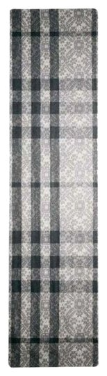 Burberry Burberry Lace Print Half Mega Check Scarf Mid Grey, new with tags!!!