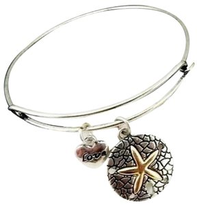 Starfish Sand Dollar Adjustable Charm Bracelet