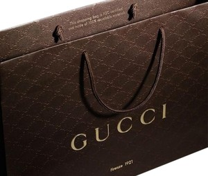 Gucci One Gucci Brown Shopping Tote Gift bag