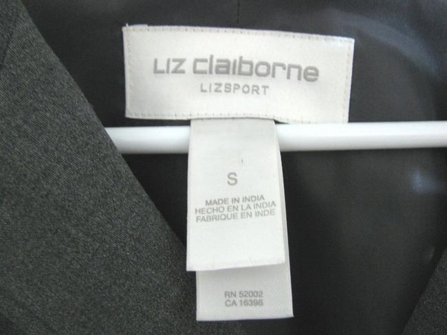 Liz Claiborne New Buttoned Shirt Women Size S Small 6 Jacket Blouse Long Ladies With Tags Tall Sport Lycra No Iron Button Down Shirt gray