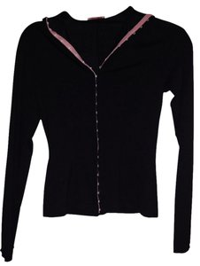Blumarine Button Down Shirt Black With Pink Trim