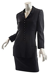 Chanel CHANEL 1998P Black Wool Jacket & Dress-Together or Separately-2 Fab Pcs 44/US8