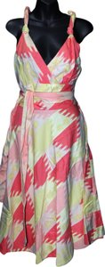 Marc by Marc Jacobs short dress PINK CORAL IVORY Halter Sundress Cotton on Tradesy