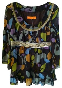 Cynthia Steffe Designer Stylish Unique Boho Chic Top Multi