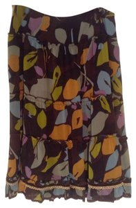 Cynthia Steffe Boho Chic Stylish Designer Skirt Multicolor Earthtones