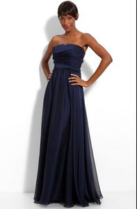 Monique Lhuillier Navy Blue Dress