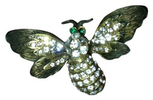 Bee Pin w Rhinestones