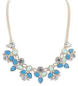 Style & Co Blue Shades Chunky Statement Necklace NWT