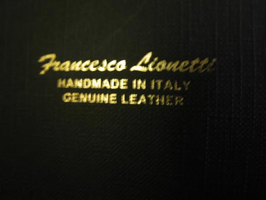 Francesco Lionetti FLEUR DE LIS Francesco Lionetti Handmade Italian Black Leather Catchall Key FOB NEW