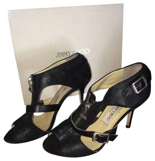 Preload https://item3.tradesy.com/images/jimmy-choo-waxed-brushed-suede-black-sandals-3469972-0-0.jpg?width=440&height=440