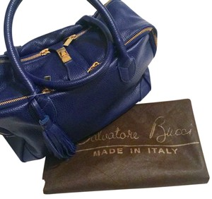 Salvatore Bucci Satchel in Cobalt Blue