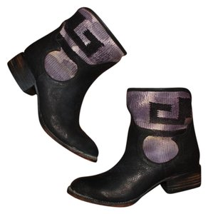 aa464f3f46f FreeBird Black and Purple New Cab Low Dipped Ankle Boots/Booties Size US 8  Regular (M, B) 41% off retail