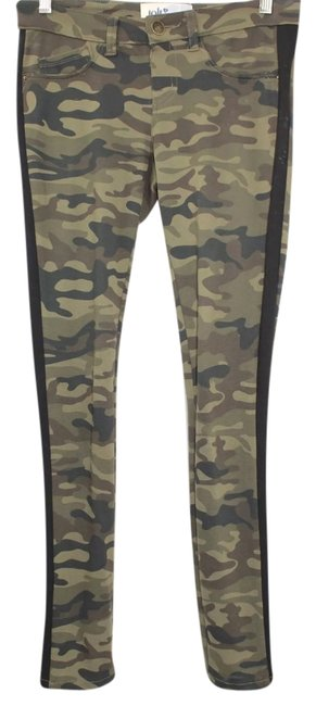 Jolt Camouflage Green Skinny Stretch Pants