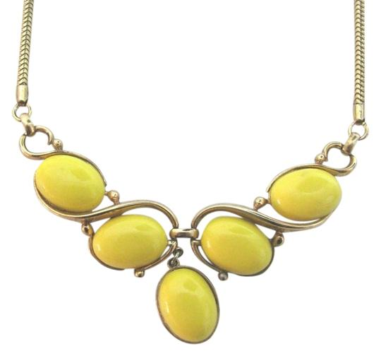 Preload https://item3.tradesy.com/images/trifari-yellow-gold-vintage-cascade-lucite-stone-beads-choker-costume-necklace-3470467-0-0.jpg?width=440&height=440
