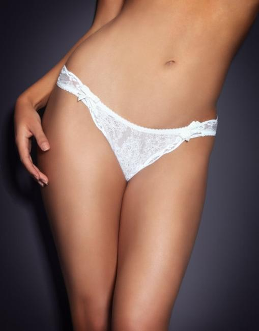 Item - Cream Love Thong Size 2