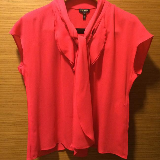 Escada Front-tie Top Red