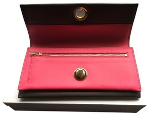 Céline Celine Black and Pink Fold Over Wallet