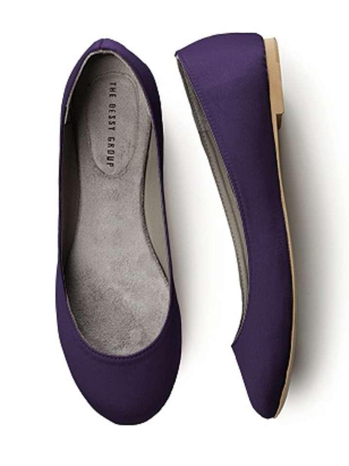 Flats Formal Satin Purple Ballet Dessy HwT8aqH