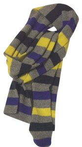 J.Crew J Crew Multicolored Striped Scarf Cashmere