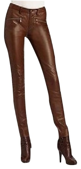 Item - Brown Leather Riding Pants Size 6 (S, 28)