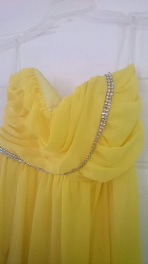 Jessica McClintock Yellow 34005-16 Sexy Dress Size 6 (S)